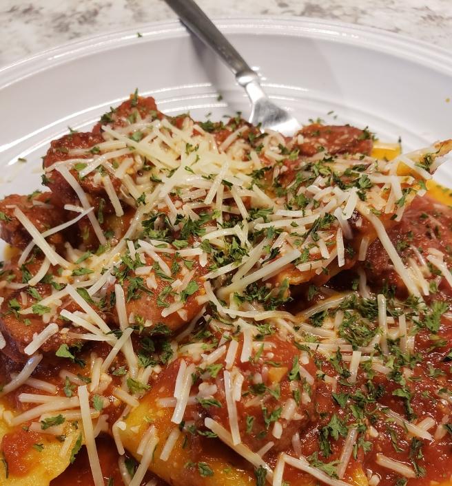 Sausage Mozarella Spinach Tortellini Pasta